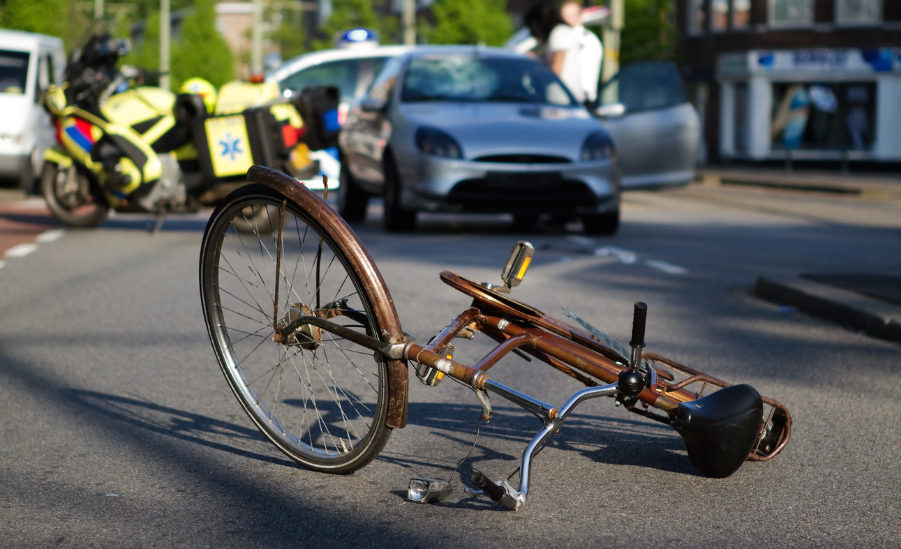 Fallen Bicycle on the Road